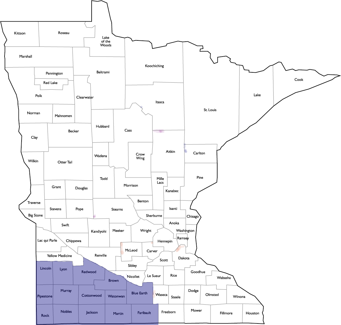 GFWC Of MN Southwest District County Map - General Federation Of Womenu0026#39;s Clubs Minnesota